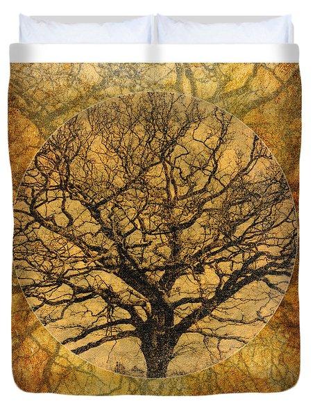 Golden Autumnal Trees Duvet Cover