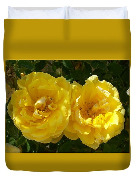 Golden Beauty Duvet Cover