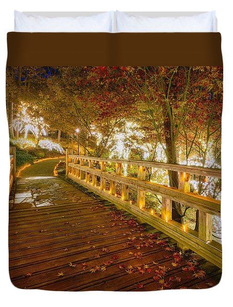 Golden Bridge Duvet Cover