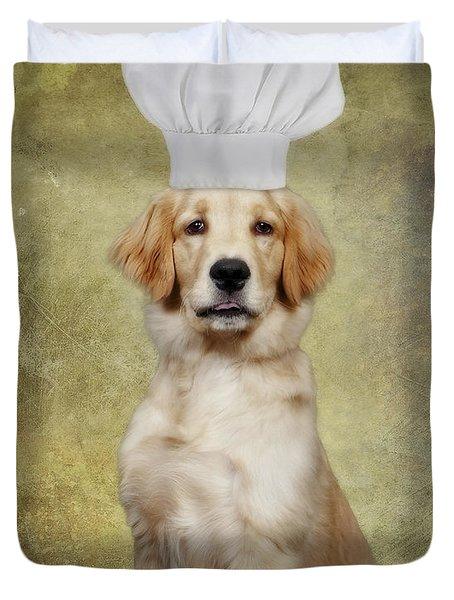 Golden Chef Duvet Cover by Susan Candelario