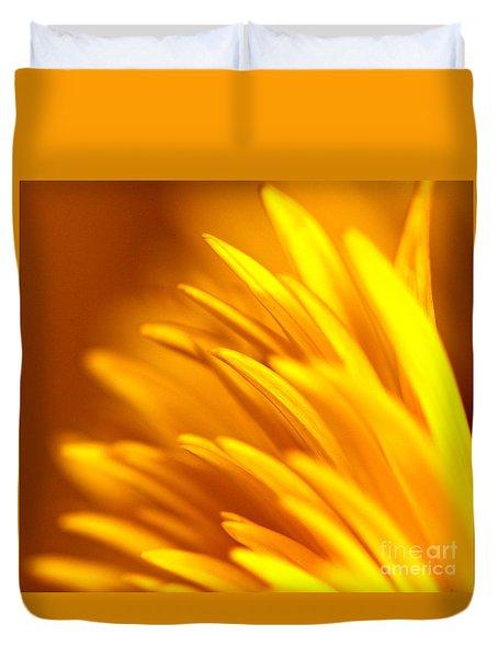 Golden Dahlia Duvet Cover