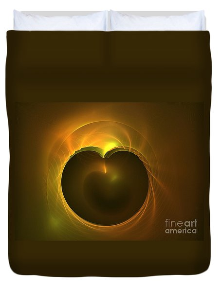 Golden Delicious Duvet Cover by Kim Sy Ok