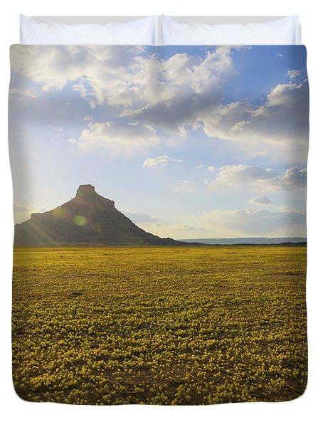 Golden Desert Duvet Cover