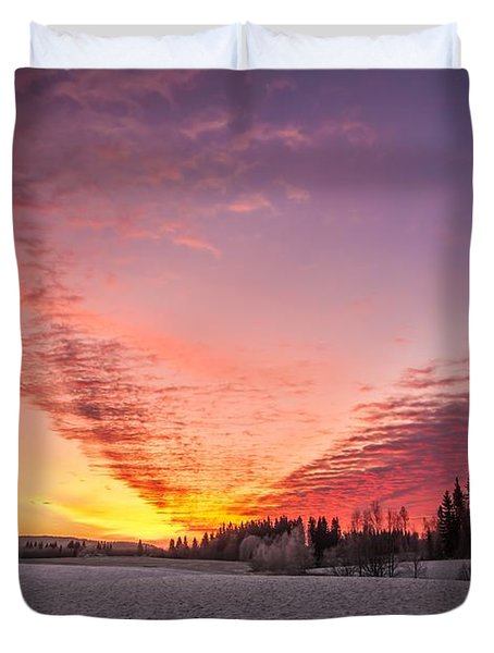 Duvet Cover featuring the photograph Golden Dreams by Rose-Maries Pictures
