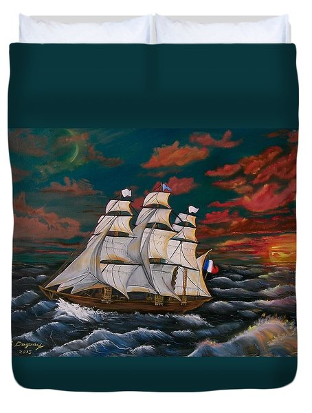 Golden Era Of Sail Duvet Cover