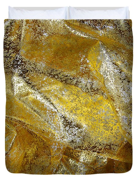 Golden Fabric Duvet Cover by Carlos Caetano