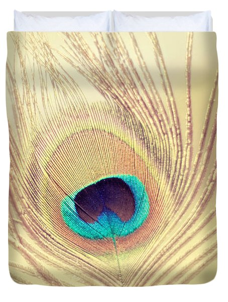Golden Feather Duvet Cover by Amy Tyler