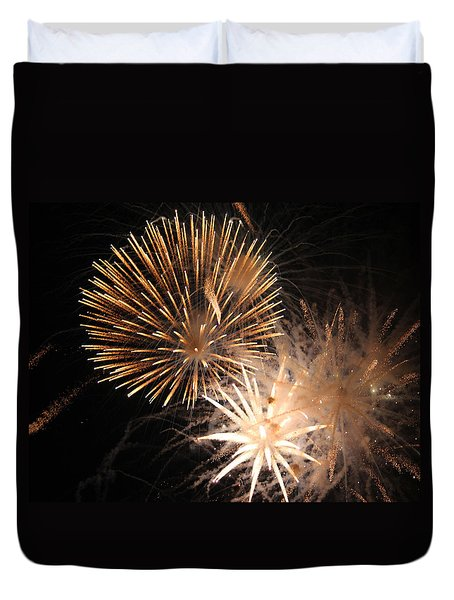 Golden Fireworks Duvet Cover