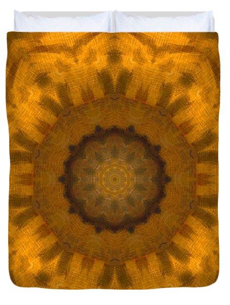 Golden Flower Duvet Cover by Dan Sproul