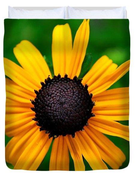 Duvet Cover featuring the photograph Golden Flower by Matt Harang