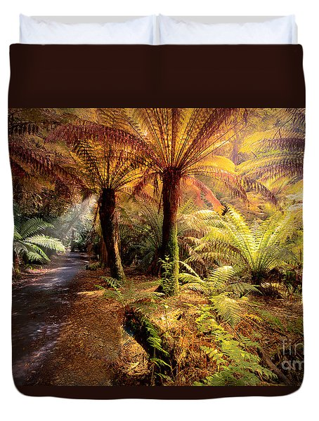 Golden Forest Duvet Cover