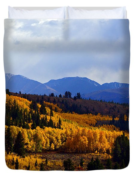 Golden Fourteeners Duvet Cover by Jeremy Rhoades