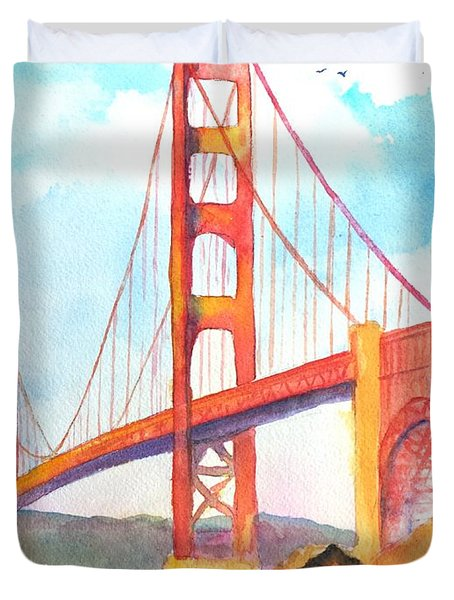 Golden Gate Bridge 3 Duvet Cover