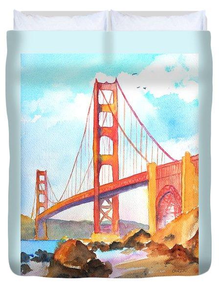 Golden Gate Bridge 3 Duvet Cover by Carlin Blahnik