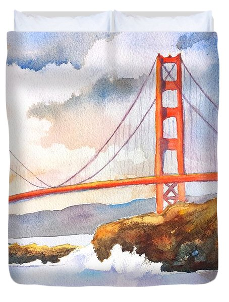 Golden Gate Bridge 4 Duvet Cover