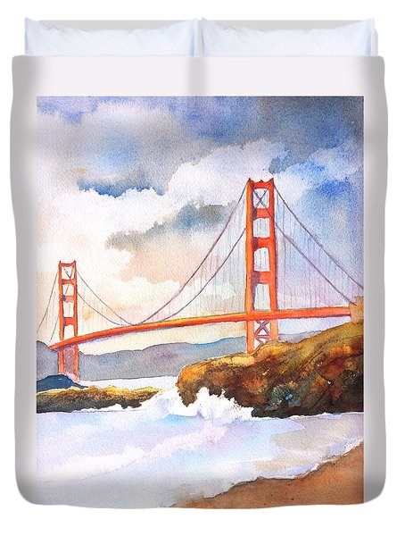 Golden Gate Bridge 4 Duvet Cover by Carlin Blahnik