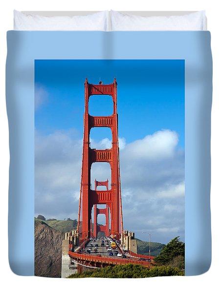 Golden Gate Bridge Duvet Cover by Adam Romanowicz