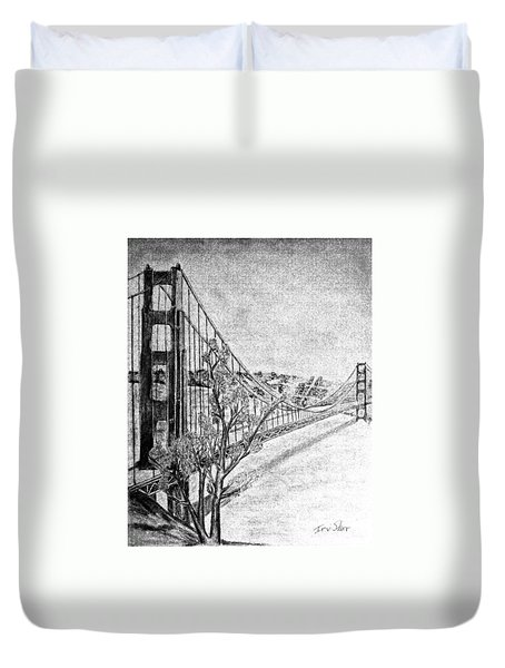 Golden Gate Bridge Duvet Cover by Irving Starr