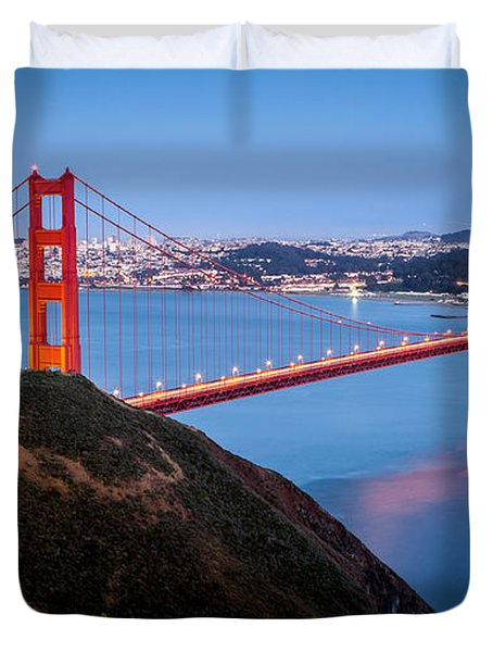 Golden Gate Bridge Duvet Cover by Mihai Andritoiu