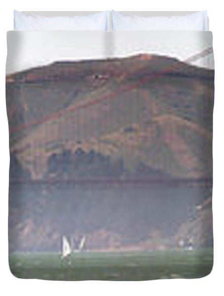 Golden Gate Bridge Panorama Duvet Cover