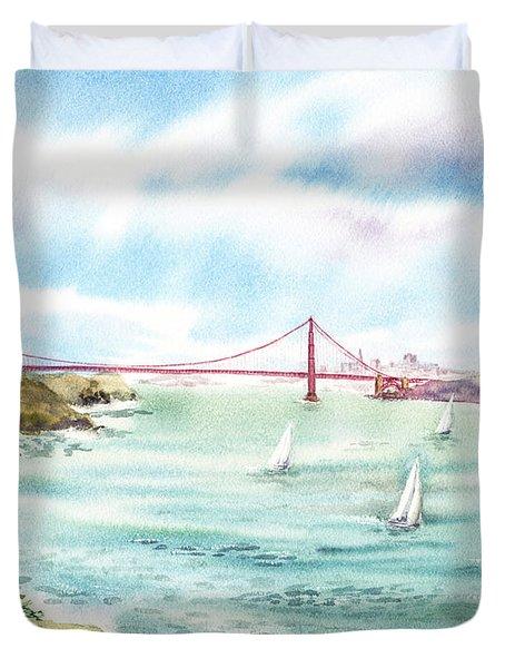 Golden Gate Bridge View From Point Bonita Duvet Cover