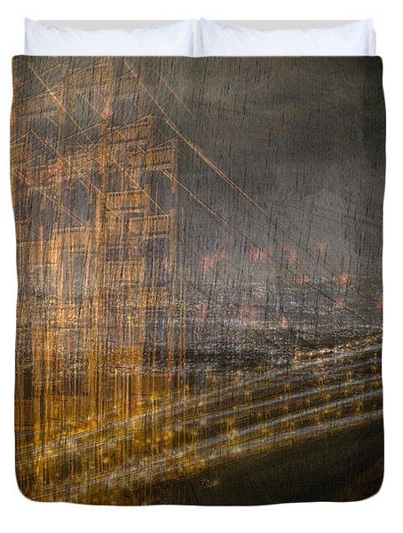 Golden Gate Chaos Duvet Cover
