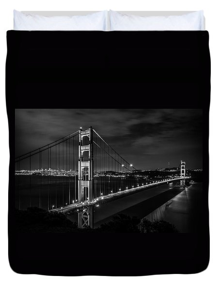 Golden Gate Evening- Mono Duvet Cover