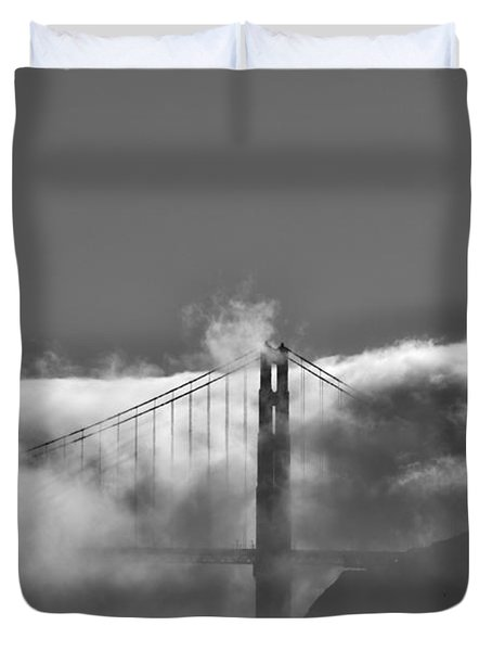 Golden Gate Fog Duvet Cover