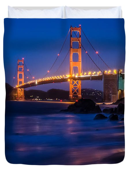 Golden Gate Glow Duvet Cover