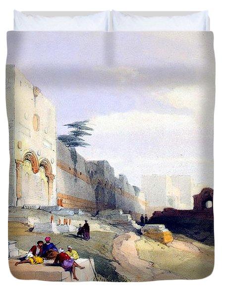 Golden Gate Of The Temple Duvet Cover