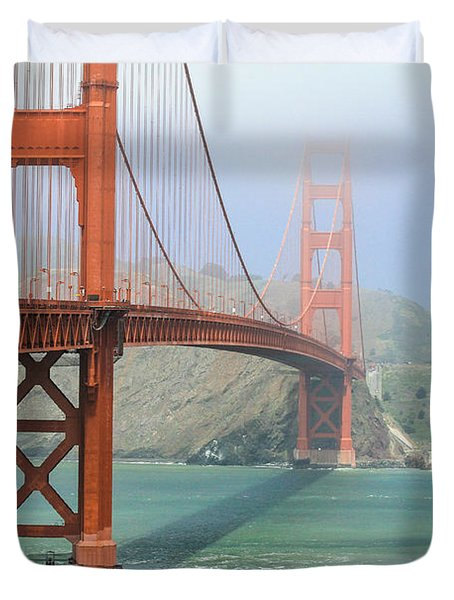 Duvet Cover featuring the photograph Golden Gate by Steven Bateson