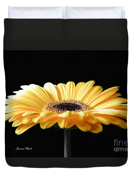 Golden Gerbera Daisy No 2 Duvet Cover