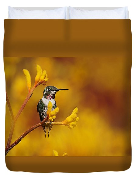 Duvet Cover featuring the photograph Golden Glow by Blair Wainman