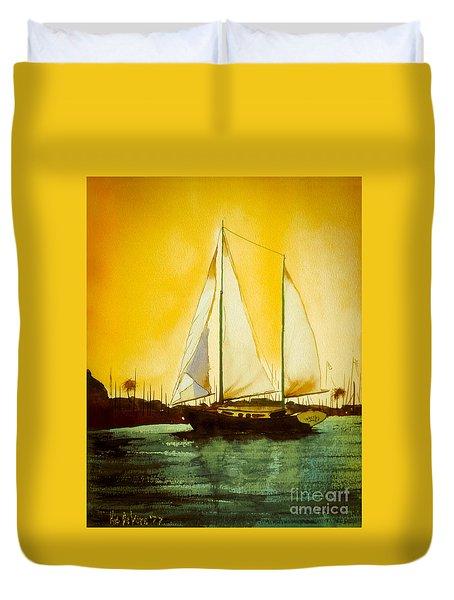 Golden Harbor  Duvet Cover by Kip DeVore