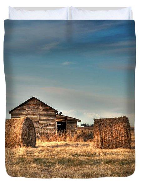 Golden Hay Duvet Cover by Lisa Knechtel