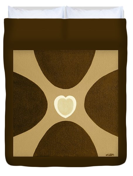 Golden Heart 3 Duvet Cover