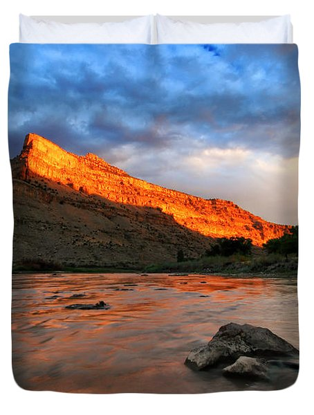Duvet Cover featuring the photograph Golden Highlights by Ronda Kimbrow