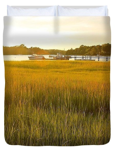 Golden Hour On Cape Cod Duvet Cover