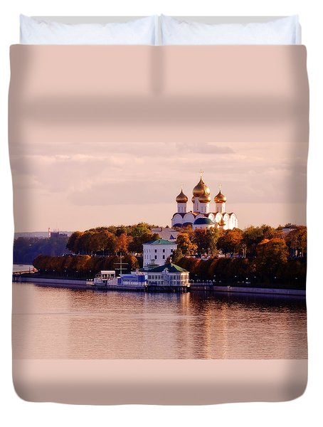Golden Hour. Yaroslavl. Russia Duvet Cover