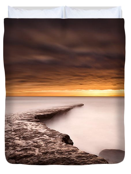 Golden Duvet Cover by Jorge Maia
