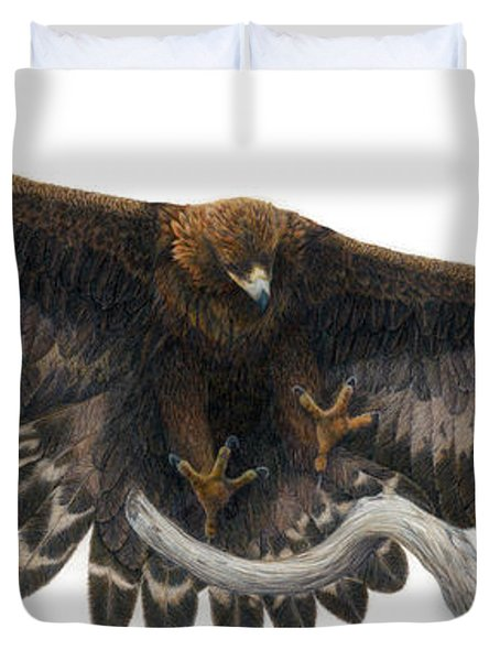 Golden Landing Duvet Cover by Pat Erickson