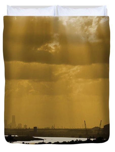 Golden Light Duvet Cover by Linda Unger