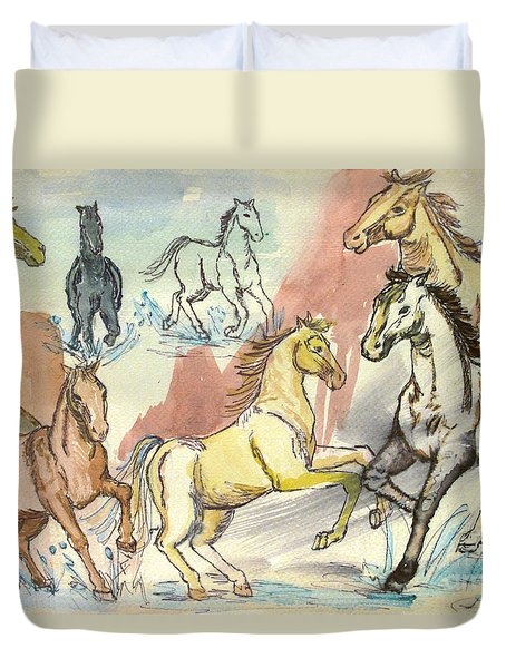 Golden Mare Duvet Cover