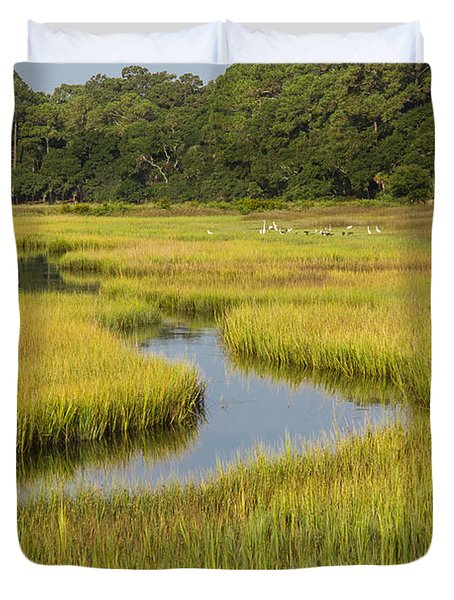 Golden Marsh Duvet Cover