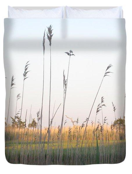 Golden Marshes Duvet Cover