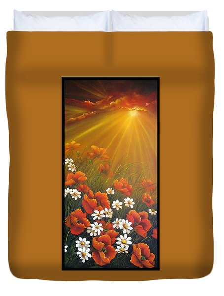 Golden Moment Duvet Cover