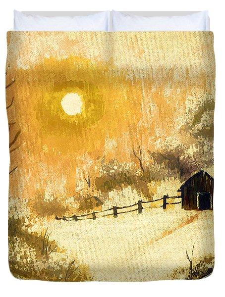 Golden Morning Duvet Cover by Barbara Griffin