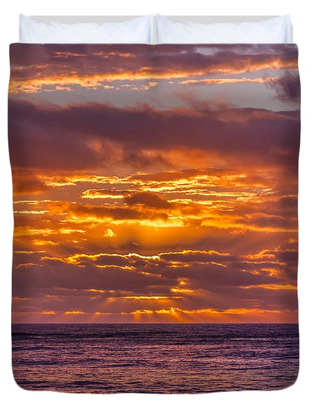 Golden Morning Duvet Cover