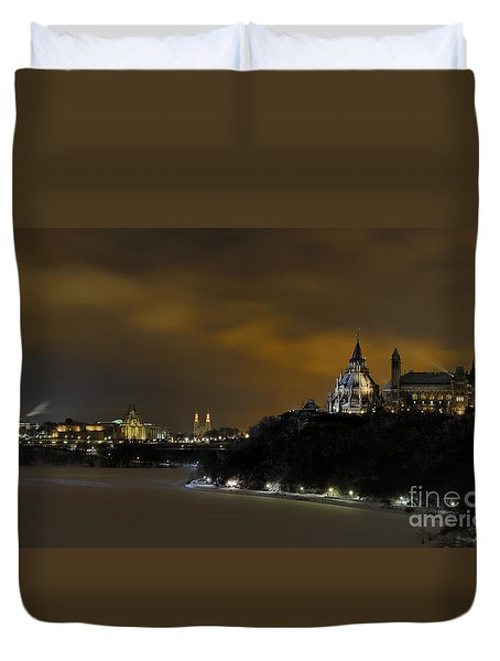 Golden Night... Duvet Cover by Nina Stavlund