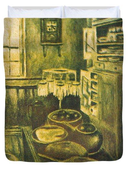 Golden Old Fashioned Kitchen Duvet Cover by Kendall Kessler